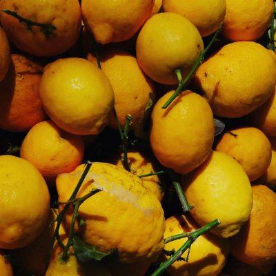 Zitronen auf Gemüsemarkt in Lyon