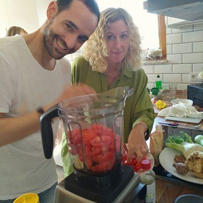 Essen zubereiten auf dem Workshop